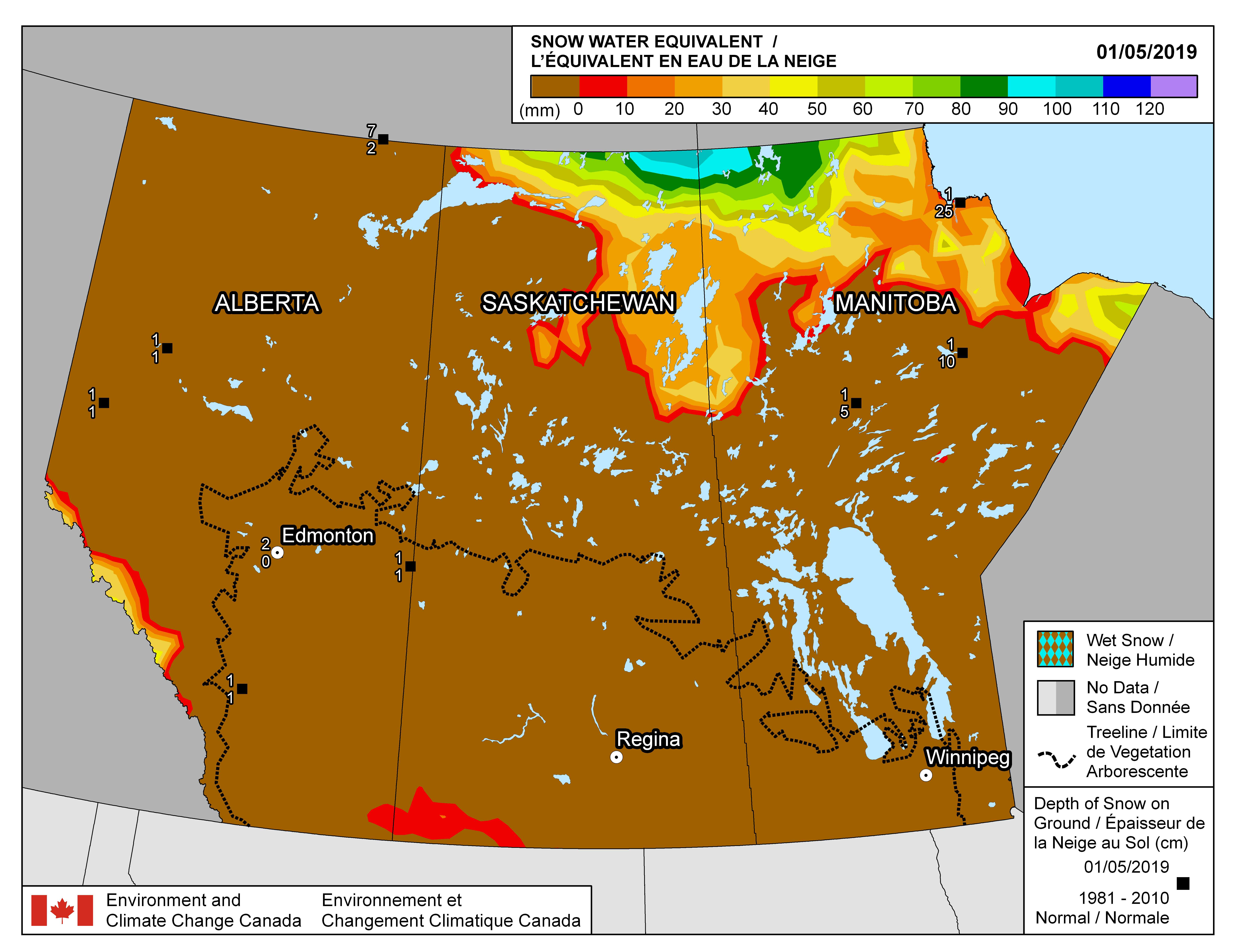 Snow Water Equivalent   Canadian Cryospheric Information Network