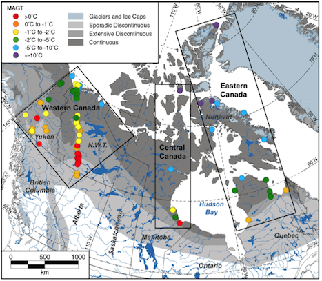 Permafrost and active layer monitoring networks in Canada